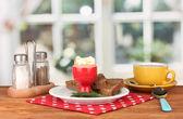 Breakfast in cafe — Stock Photo
