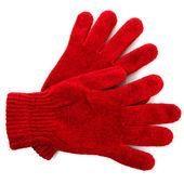 Vrouw gebreide handschoenen, geïsoleerd op wit — Stockfoto