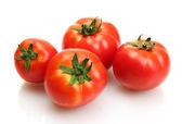 Tomaten geïsoleerd op wit — Stockfoto