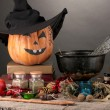 Scary halloween laboratory — Stock Photo