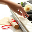 Hand of womplaying synthesizer — Stock Photo #14080939