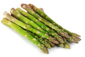 Fresh asparagus isolated on white — Stock Photo