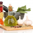 Royalty-Free Stock Photo: Set of ingredients and spice for cooking isolated on white