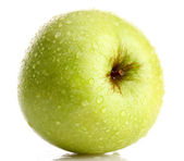 Ripe green apple isolated on white — Stock Photo