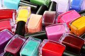 Group of bright nail polishes, close up — Stock Photo