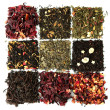 Assortment of dry tea, isolated on white — Stock Photo #14316383