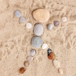 Man-stones on sand — Stock Photo #14332945