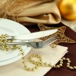 Royalty-Free Stock Photo: Beautiful christmas setting, close up