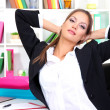 Stock Photo: Business woman relaxing in office