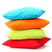 Colorful pillows isolated on white — ストック写真