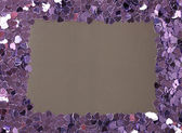 Hjärtan konfetti på grå bakgrund — Stockfoto