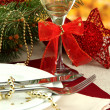 Beautiful christmas setting, close up - Zdjęcie stockowe