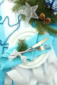 Beautiful christmas setting, close up — Foto de Stock