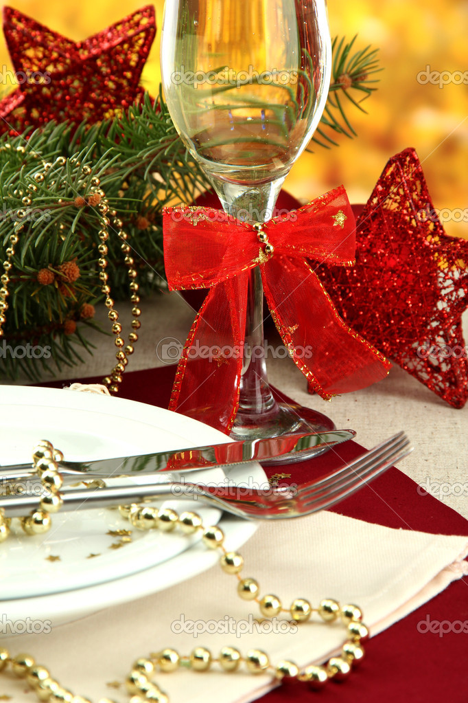 Beautiful christmas setting, close up  Stock Photo #14673003