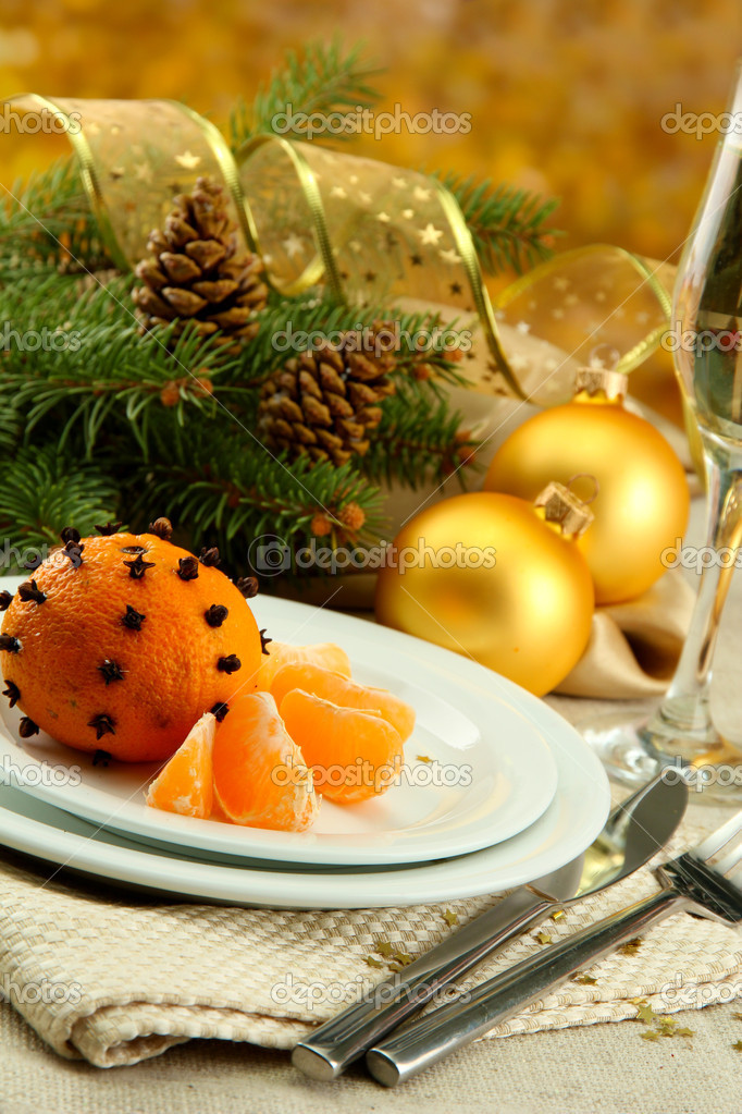 Beautiful christmas setting, close up — Stock Photo #14673027
