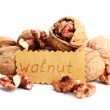 Tasty walnuts, isolated on white — Stock Photo