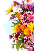 Beautiful bouquet of bright flowers close-up — Stock Photo