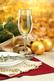 Beautiful christmas setting, close up — Stockfoto