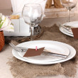 Rustic table setting — Stock Photo #14950161