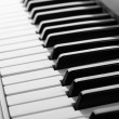Background of piano keyboard, close up — Stock Photo
