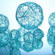 Beautiful decorative balls, on blue background — Stock Photo #14954205