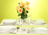 Elegant holiday table setting — Stock Photo