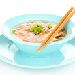 Chinese soup isolated on white — Stock Photo