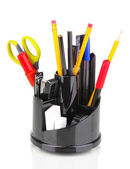 Holder for pencils isolated on white — Stock Photo