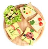 Comida para niños aislados en blanco de la diversión — Foto de Stock