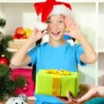 Christmas gift for little girl — Stock Photo #15529281