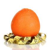 Oranžová s měřické izolovaných na bílém — Stock fotografie