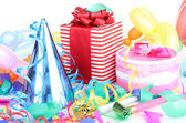 Party decoration isolated on white — Stock Photo
