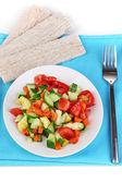 孤立在白色的板上的健康食品 — 图库照片