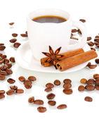 Türk kahve üzerine beyaz izole — Stok fotoğraf