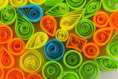 Colorful quilling close-up — Stock Photo