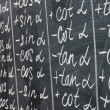 Math formulas written on desk — Stock Photo #15630875