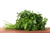 Parsley on wooden — Stock Photo