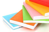 Stack of multicolor books isolated on white — Стоковое фото