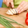 Stock Photo: Chopping food ingredients