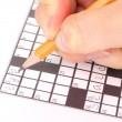 Crossword puzzle close-up — Lizenzfreies Foto