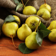 Stock Photo: Juicy flavorful pears close-up