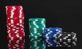 Casino chips isolated on black — Foto de Stock