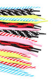 Colorful shoelaces isolated on white — Stock Photo