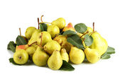 Juicy flavorful pears hill isolated on white — Stock Photo