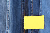 Mnoho džíny s detailní popisek — Stock fotografie
