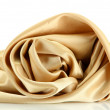 Beautiful silk drape, isolated on white — Stock Photo