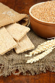 Wheat bran on the table — Stock Photo