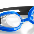 Blue swim goggles isolated on white — Stock Photo