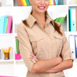 Standing young business woman — Stock Photo #15738169