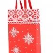 Christmas paper bag for gifts isolated on white - Foto de Stock